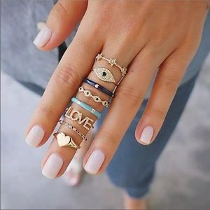 🖤Coming Soon🖤 Evil Eye Ring Set